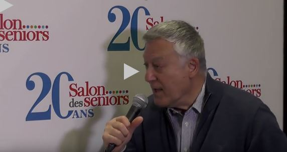 Gaston Helm d'ECTI interviewé au salon des Seniors